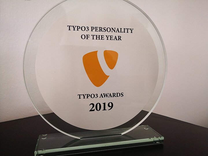 TYPO3 Personality of the year award for our CEO